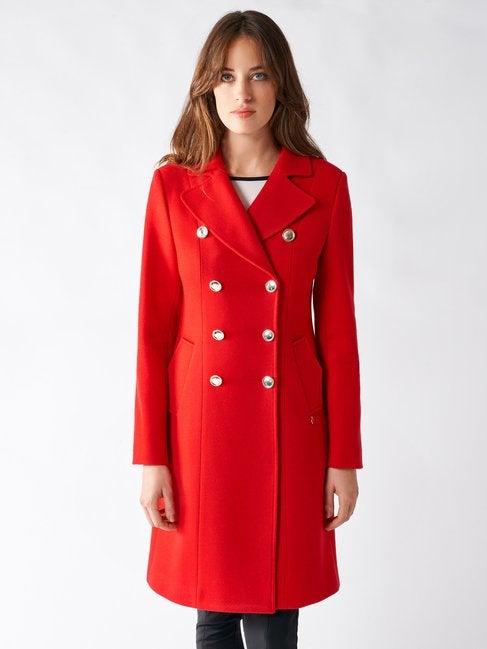 Cappotto rosso doppiopetto Rinascimento collezione inverno 2020
