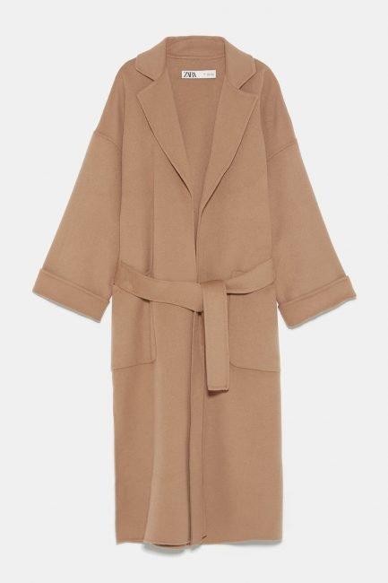 Cappotto vestaglia cammello Zara 2020