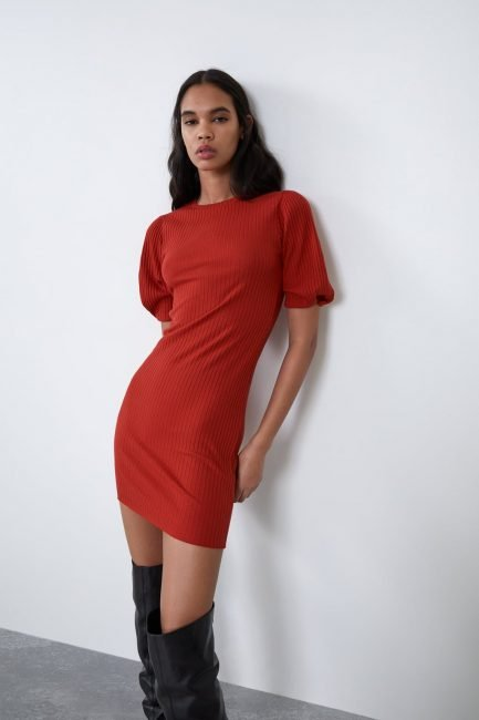 Mini dress Zara rosso inverno 2019 2020