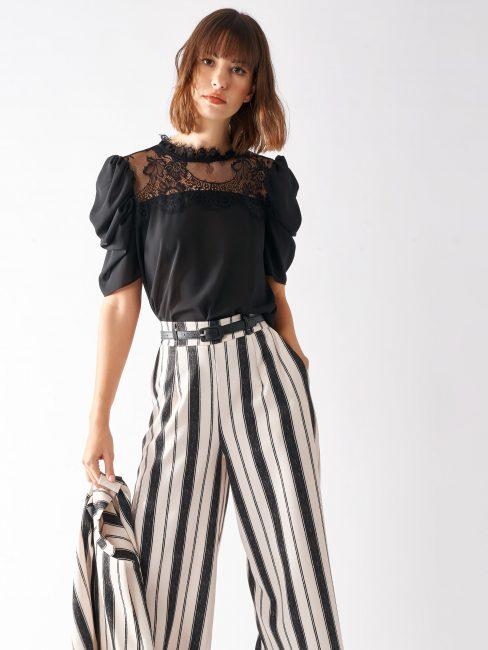 Blusa elegante con pizzo Rinascimento pre collezione primavera estate 2020