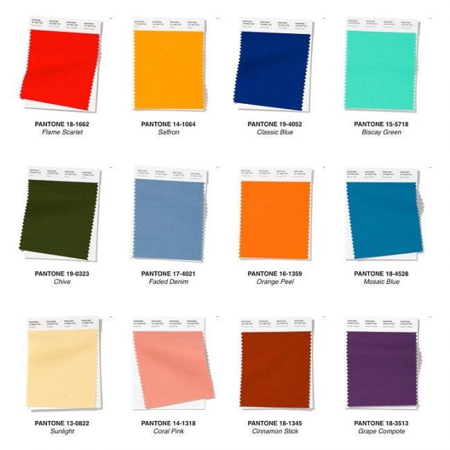 Colori Palette Pantone Moda 2020