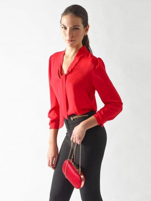Rinascimento blusa elegante rossa collezione primavera estate 2020