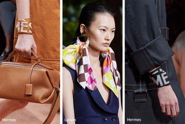 Bijoux con foulard moda primavera estate 2020