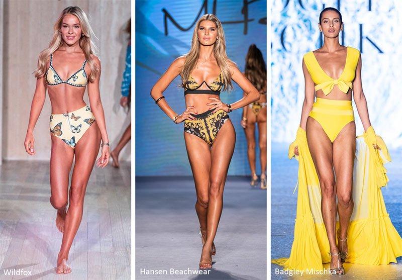 Bikini con slip a vita alta moda estate 2020