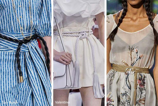 Cinture di corda moda estate 2020