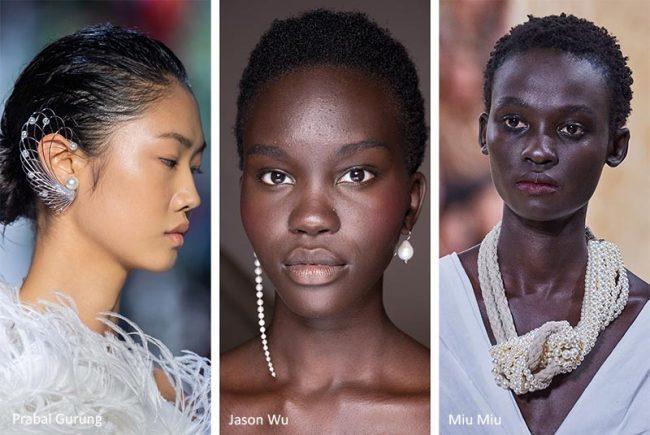 Gioielli e accessori con perle moda primavera estate 2020