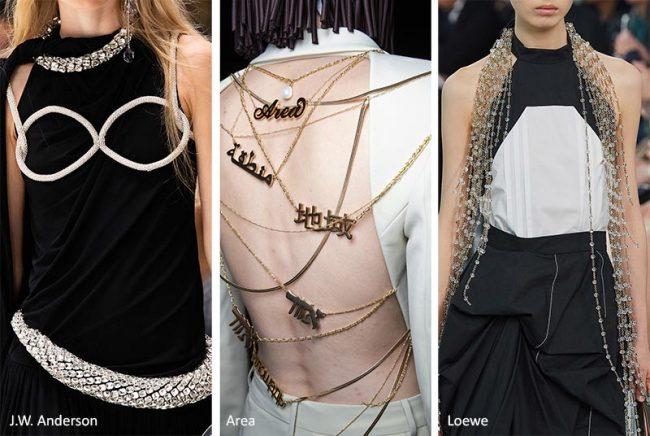 Gioielli per il corpo moda donna estate 2020