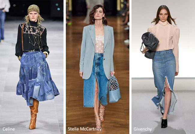 Gonne longuette in denim moda primavera estate 2020