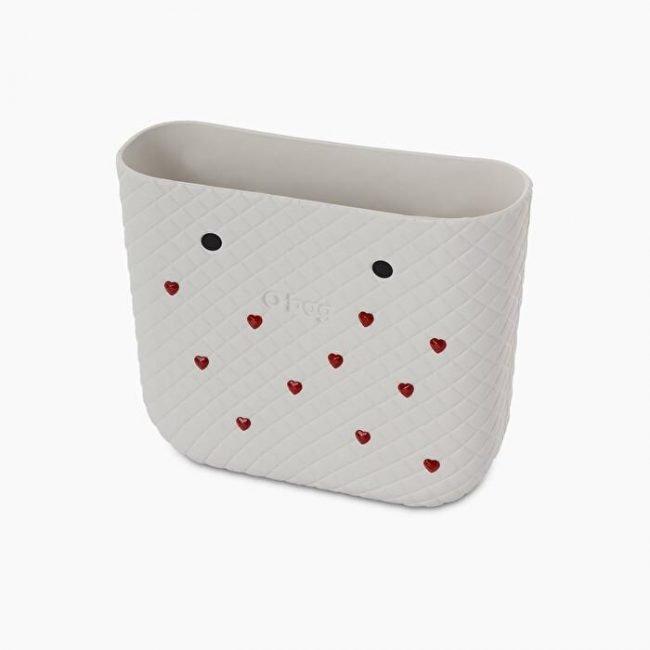 Nuova scocca bianca borsa O bag mini per San Valentino 2020