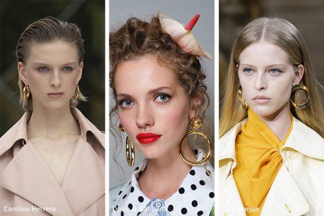 Orecchini a cerchio moda primavera estate 2020