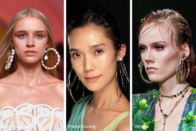Orecchini a cerchio multipli moda primavera estate 2020