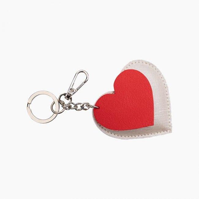 Portachiavi O Bag San Valentino 2020 bianco e rosso