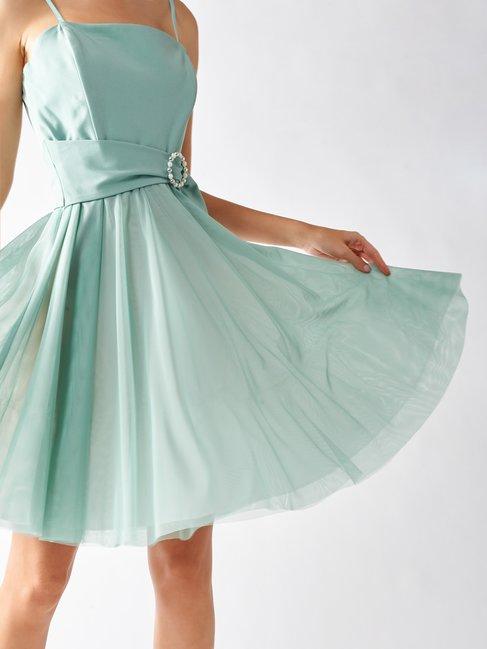 Rinascimento vestito corto da cerimonia color verde menta collezione estate 2020