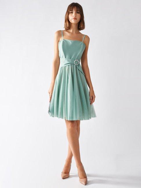 Rinascimento vestito corto da cerimonia color verde menta estate 2020