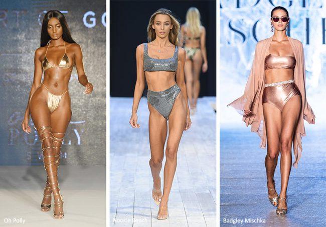 Tendenze Moda costumi da bagno laminati estate 2020
