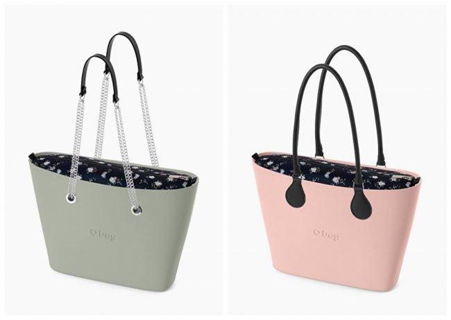 Borse O Bag Urban con nuova sacca interna microflowers primavera estate 2020
