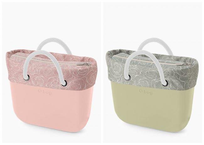 Borse O Bag mini con nuovi bordi in tessuto Peonie