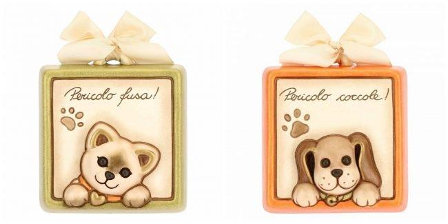 Formelle in ceramica THUN cane e gatto