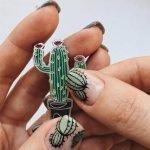 Nail art estiva 2020 con cactus