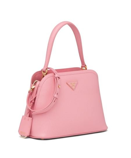 Nuova Borsa Prada Matinee estate 2020 colore rosa petalo