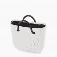 Nuova O Bag mini con stelle e manici in corda prezzo 97 euro