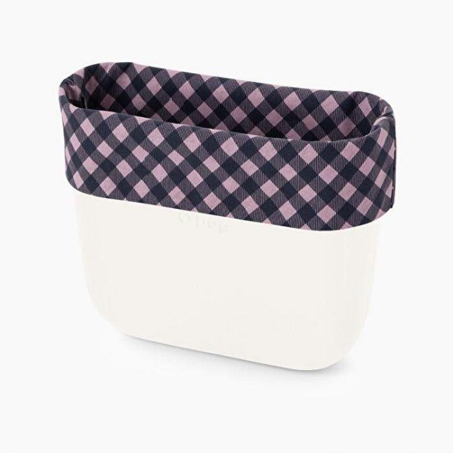 Nuovo Bordo Borsa O bag collezione primavera estate 2020 quadri vichy blu navy