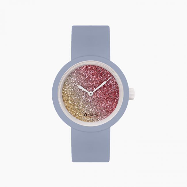 Nuovo orologio O Clock carta di zucchero con meccanismo glitter bicolor primavera estate 2020
