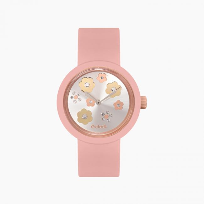 Nuovo orologio O Clock di O Bag con meccanismo crystals oro rosa