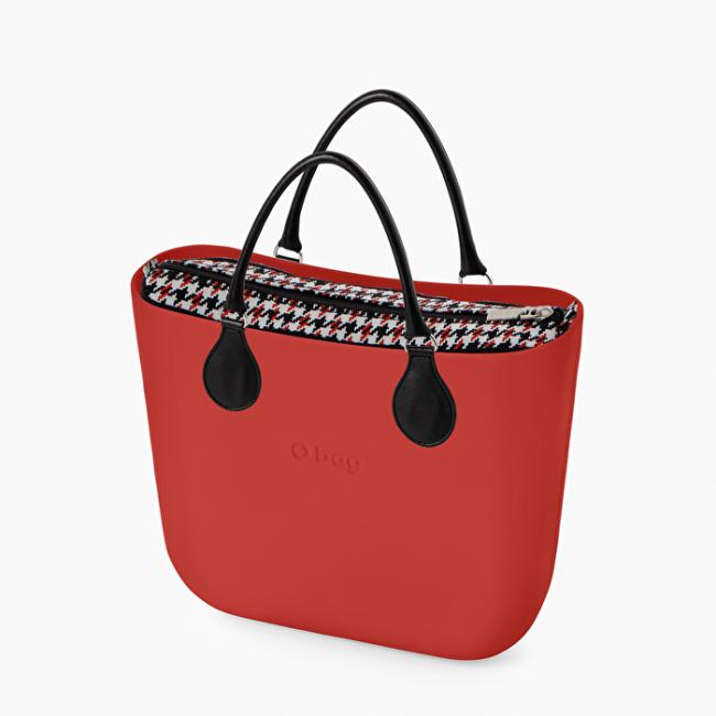 O Bag mini rossa con nuova sacca interna catalogo primavera estate 2020
