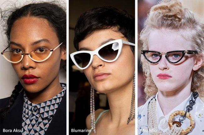 Occhiali a sole dalla forma triangolare moda 2020