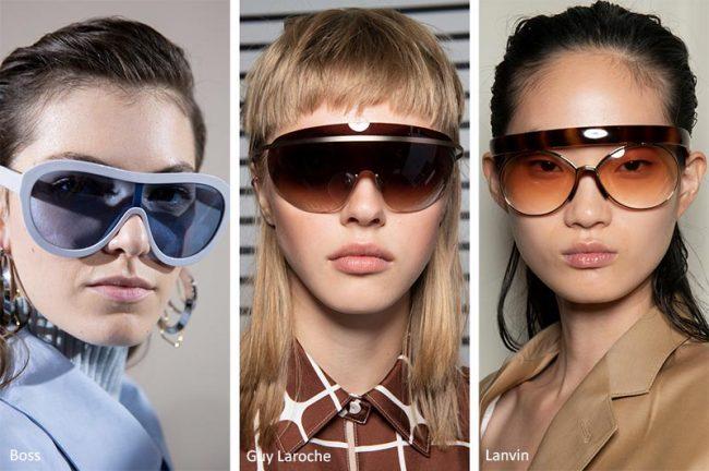 Occhiali da sole a mascherina moda estate 2020