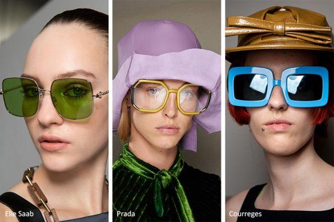 Occhiali da sole oversize quadrati moda primavera estate 2020