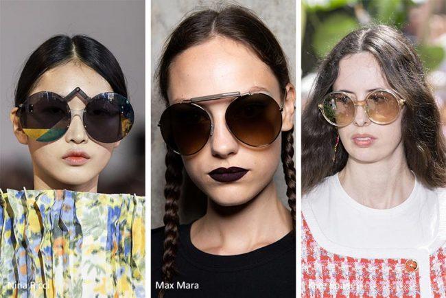 Occhiali da sole oversize rotondi moda primavera estate 2020