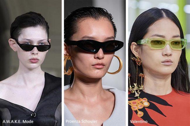Occhiali da sole piccoli e allungati moda 2020