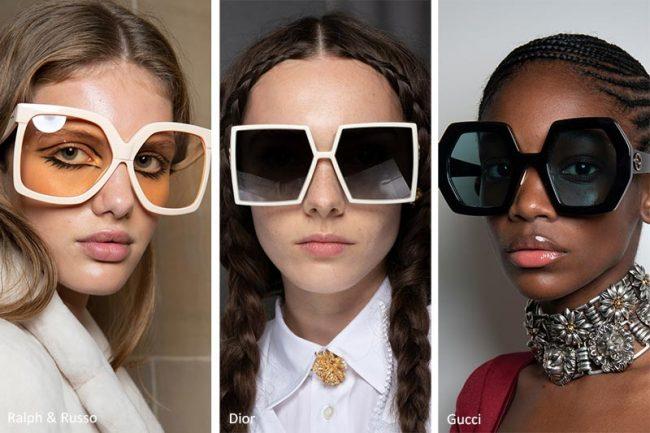 Occhiali oversize moda estate 2020