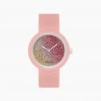 Orologio O Clock con meccanismo glitter bicolor cedro e coral catalogo primavera estate 2020 prezzo 31 euro