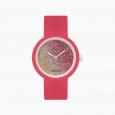 Orologio O Clock magenta con meccanismo glitter bicolor cedro e coral catalogo primavera estate 2020 prezzo 31 euro