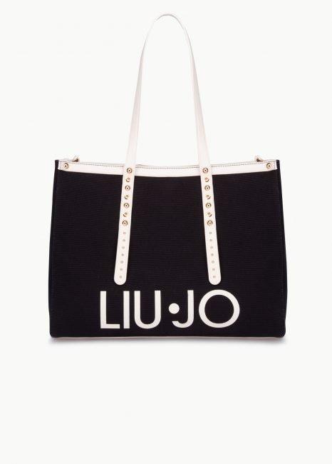 Shopping bag Liu Jo collezione estate 2020 in tessuto ed ecopelle