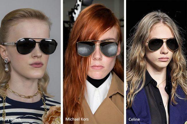 Tendenza Moda Occhiali da Sole Primavera Estate 2020 modello Aviatore