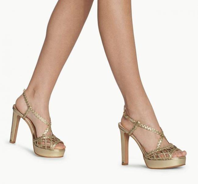 Sandali da sera dorati Liu Jo collezione estate 2020