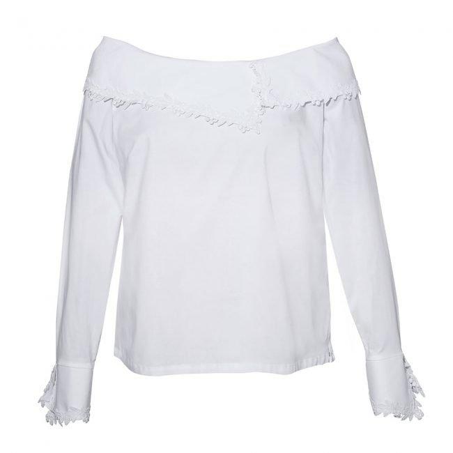 Camicia bianca NaraCamicie con scollo off shoulder 2020