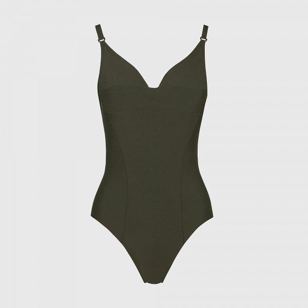 Costume intero nero contenitivo modellante Yamamay estate 2020 modello Sculpt