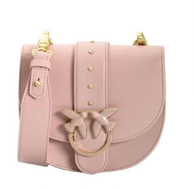 Nuova Pinko Round Love Bag Rosa estate 2020