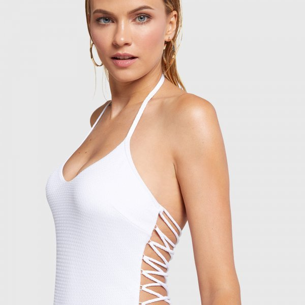 Nuovo costume intero bianco Yamamay estate 2020