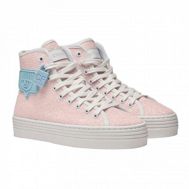 Sneakers alte Chiara Ferragni Eyelike rosa estate 2020