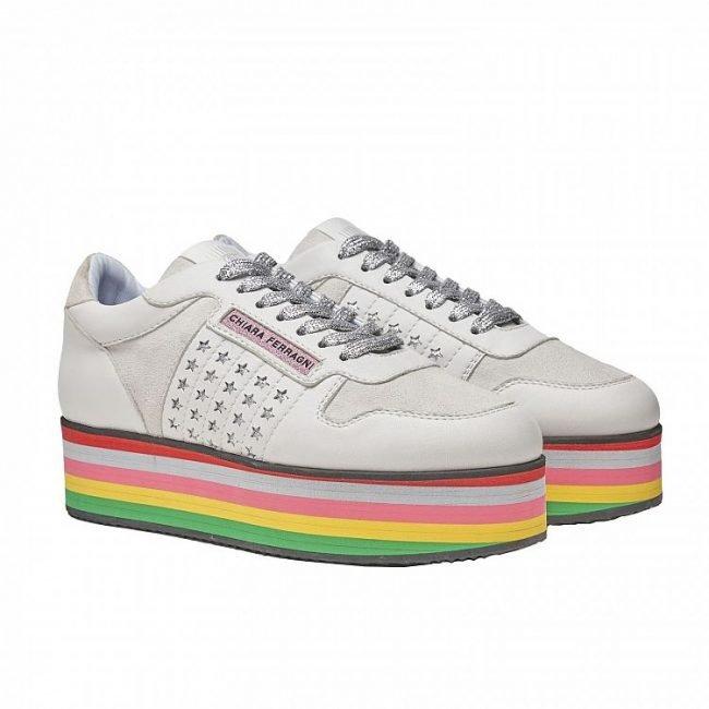 Sneakers platform Chiara Ferragni collezione 2020