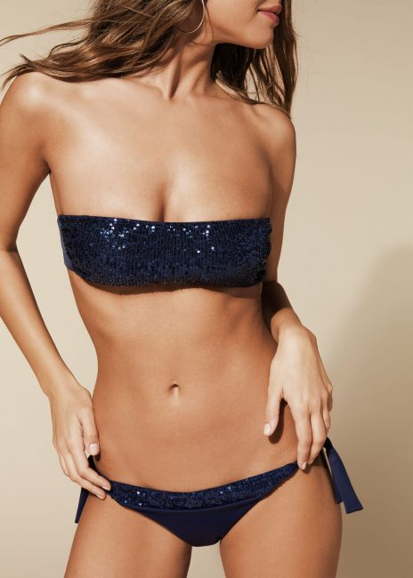 Bikini Calzedonia a fascia con paillettes estate 2020 modello Barbara