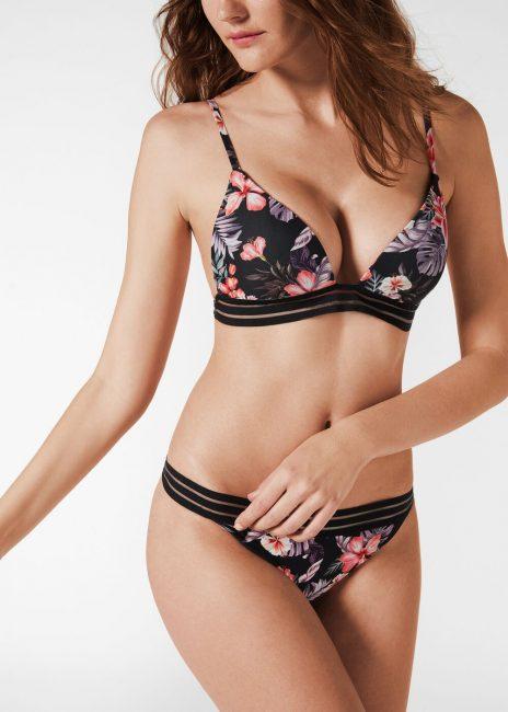 Bikini Calzedonia con reggiseno a triangolo imbottito e brasiliano estate 2020 modello Nuria
