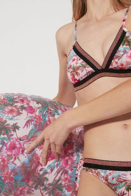 Bikini a triangolo Tezenis stampa Tropical bali estate 2020