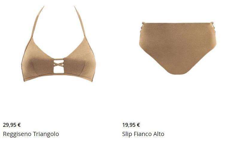 Bikini con reggiseno a triangolo e slip a vita alta Goldenpoint 2020
